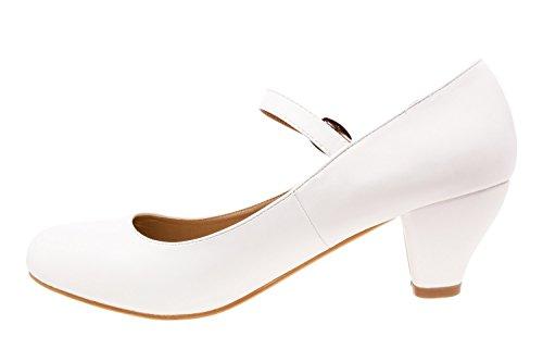 Pointures Escarpins grandes Mary Blanc am538 n 42 Soft Machado Andres pour 45 Style Femmes Jane qw8T0CHx