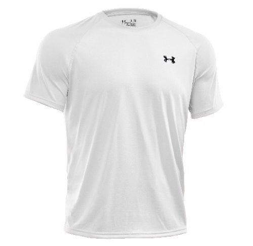 Men's UA Tech™ Shortsleeve T-Shirt Tops by Under Armour (White/Black, Large)