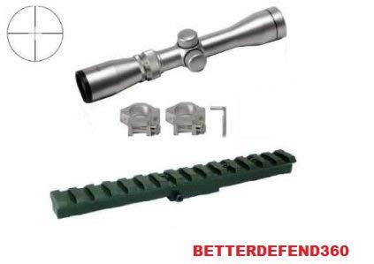 (GOTICAL Mosin Nagant Monte Carlo Rifle M44 91-30 M91-30 7.62x54 Rail Mount + 4X30 Long Eye Relief Silver Finish Mil Dot Reticle Sight)