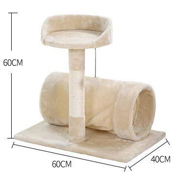CATISM Arbre de Chat Moelleux avec Tunnel de Chat, Peut être employé pour des récréations d'Animal familier, la Saisie de Griffe de Pratique, 60 x 40 x 60 cm