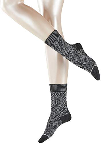Esprit Wool - Esprit Womens Norwegian Boot Socks - Anthracite Melange - Medium/Large