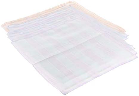 ハンカチ 綿 メンズ チェック柄 コットンハンカチ パーティー 吸湿性 12ピースセット