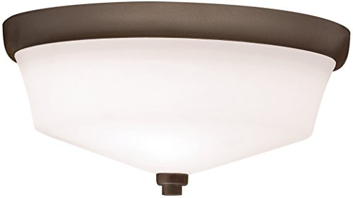 Kichler 8044OZ Langford Flush Mount 2-Light, Olde Bronze
