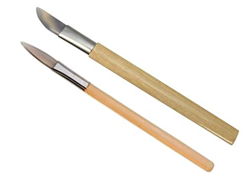 (2 Agate Burnishers Bezel Gold Silver Leaf Bookbinders Tools, Jewelry Marker's Professional Set)