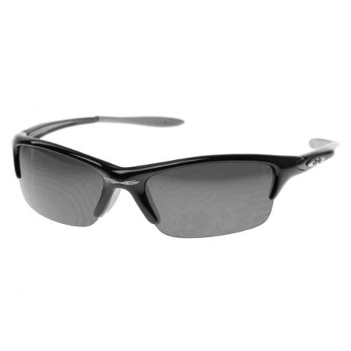 X-Loop Half Jacket Frame Sports Wrap Xloop Sunglasses (Shiny Black - Half Frames Jacket