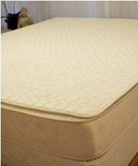 Organic Cotton Quilted Mattress Pad ( Queen )