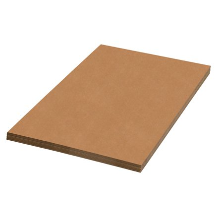 Aviditi SP2424 Single-Wall Corrugated Sheet, 24'' Length x 24'' Width, Kraft (Bundle of 5) by Aviditi