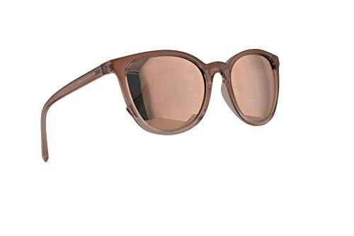 Armani Exchange AX4077S Sunglasses Transparent Tundra Rose w/Grey Mirror Rose Gold Lens 55mm 82574Z AX 4077S