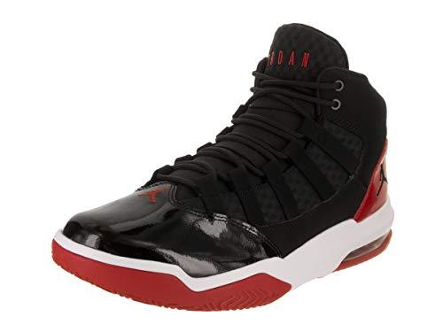 White Red Mens Shoes - Jordan Nike Men's Max Aura Black/Black Gym Red White Basketball Shoe 10 Men US