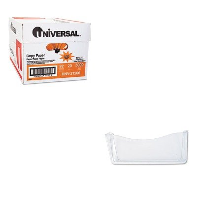 KITRUB65980ROSUNV21200 - Value Kit - Rubbermaid Unbreakable Single Pocket Wall File (RUB65980ROS) and Universal Copy Paper (UNV21200)