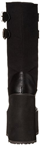 Pleaser Swing 221 - Botas Mujer Negro (Blk Canvas/Vegan Leather)