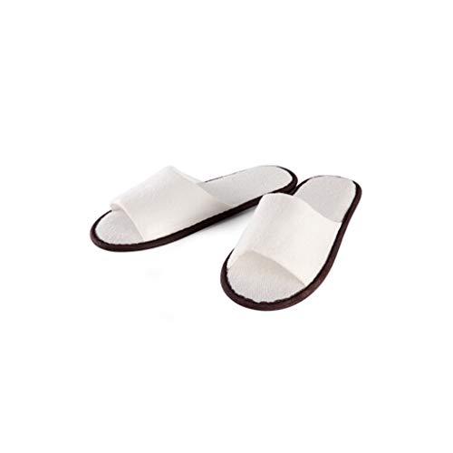 Lyx Casalinghi Usa Getta Unisex White100double2 100 Codice E Pediluvio Di Beauty Salon Paia Sauna Pantofole Sono Articoli Hotel Travel rXHqrY