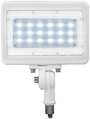 LED Flood Light Outdoor Waterproof Fixture 1 2 Knuckle Mount 10 YR Warranty Solution for Landscape Security Lighting 30W 150W Equivalent 3,819 LMS 100-277V 50,000 Life Hours Day Light 5000K