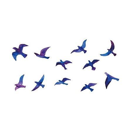 ljmljm 5pcs Impermeable del Tatuaje Pegatinas Los pájaros vuelan ...