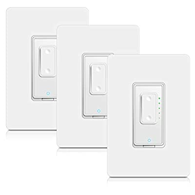 4 Way Smart Switch Dimmer by Martin Jerry   SmartLife App, Mains Dimming (TRIAC) ONLY, compatible with Alexa as WiFi Light Switch Dimmer, 4-way, Works with Google Assistant