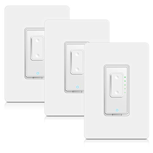 4 Way Smart Switch Dimmer by Martin Jerry | SmartLife App, Mains Dimming (TRIAC) ONLY, compatible with Alexa as WiFi Light Switch Dimmer, 4-way, Works with Google Assistant