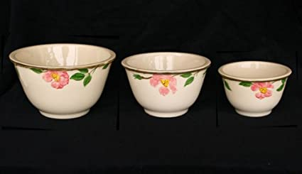 Amazon.com: Franciscan Desert Rose 3 Piece Mixing Nesting Bowl Set ...