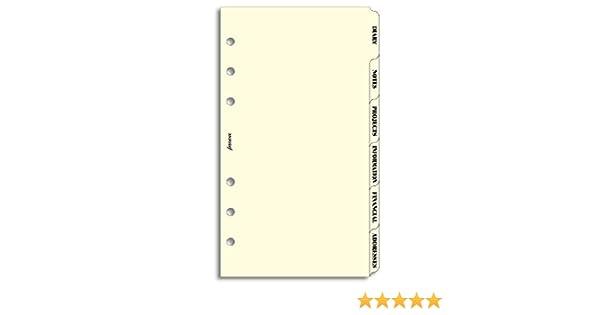 ... agenda de anillas (agenda, notas, proyectos, información, información financiera, direcciones), color crema (en inglés): Amazon.es: Oficina y papelería