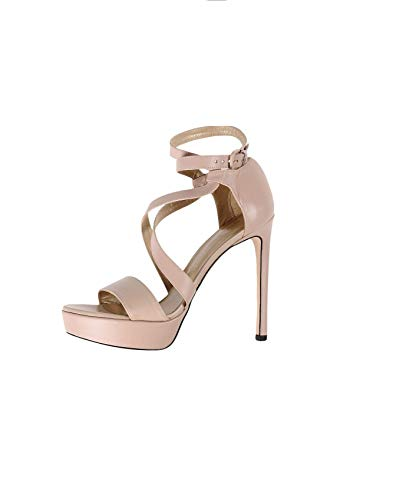 Stuart Weitzman Women's Streamer Platform Sandal (10 B (M) US, Adobe Nappa)