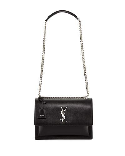 26e9216a0e01 Saint Laurent Sunset Large Monogram YSL Crossbody Bag made in Italy (Black)