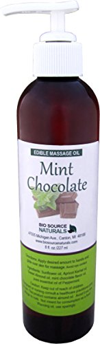 - Mint Chocolate Edible Massage Oil 8 fl. oz. Pump with Pure Peppermint Essential Oil and all Natural Plant Oils