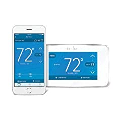 """Wi-Fi thermostat Ranked """"Highest in Customer Satisfaction with Smart Thermostat"""" by J.D. Power. Put your customers in control of their comfort. HD Touch Screen, Color Display, Illuminated Back Plate, Easy-Click Terminals, Geofencing, Smart Al..."""