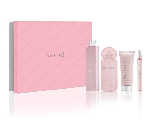 Perry Ellis Perry Ellis 18 By Perry Ellis for Women - 4 Pc Gift Set 3.4oz Edp Spray, 0.33oz Edp Spray, 4oz Body Mist Spray, 2oz Hand Cream, 4count ()