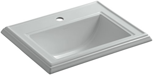 KOHLER K-2241-1-95 Memoirs Classic Drop-In Bathroom Sink with Single Faucet Hole, Ice Grey