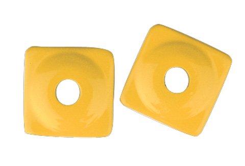 Plates Aluminum Square Support (Woodys Aluminum Square Support Plates - Yellow - 5/16in. Thread (96pk.) ASW2-3800-B)