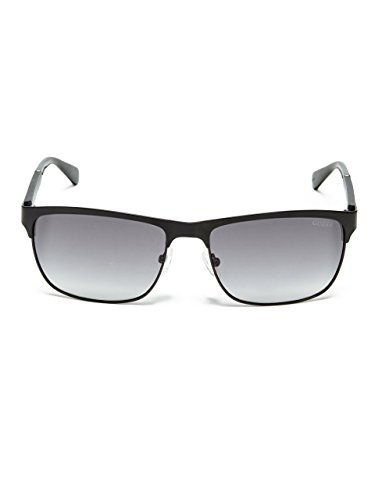 GUESS Men's Vincent Clubmaster - Shaped Sunglasses Oval For Male Face
