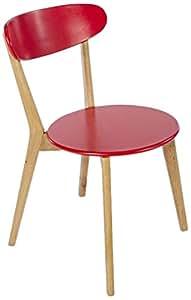 Set Silla 2 Piezas Sangerman Rojo