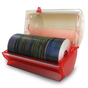 Discgear Disc Select 80 Disc Retrieval System - Red (Stores 80 CD, DVD, Game or Photo CDs)
