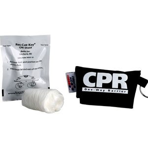 First Aid Only M5097 Ambu Res-cue Key CPR Shield, CPR Black Pouch