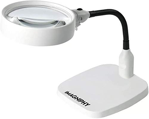 iMagniphy 8X Lighted Desktop Magnifier - Extra