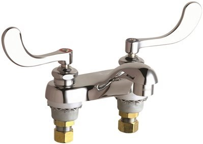 Chicago Faucets 802-V317E66ABCP  Hot and Cold Sink Faucet, 0.5 Gpm, Chrome, Lead Free, Plastic, 5.1'' x 11.5'' x 6.2'' by Chicago Faucets