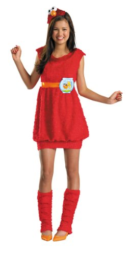 Home Halloween Costumes Teenagers (Disguise Sesame Street Elmo Teen Girls Costume, X-Large/14-16)