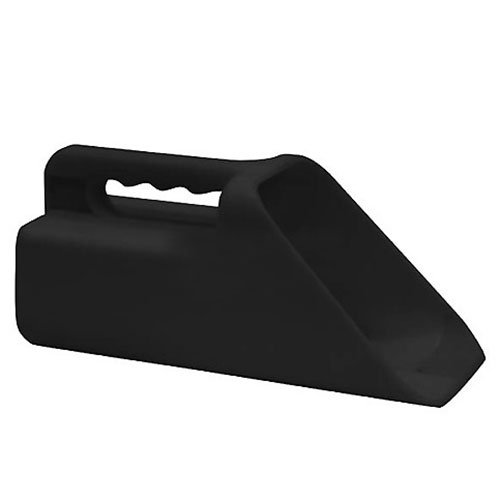 Buyers-Products-9031110-Plastic-Salt-Scoop-Black-Lot-of-4