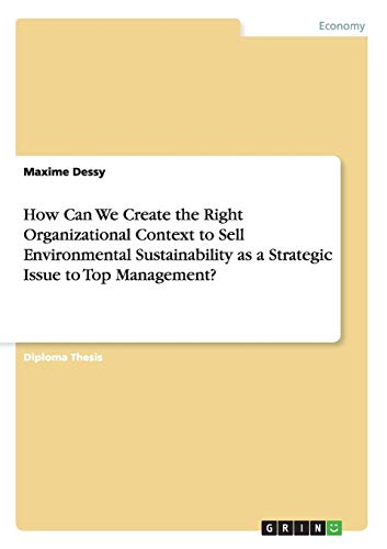 (How Can We Create the Right Organizational Context to Sell Environmental Sustainability as a Strategic Issue to Top Management?)
