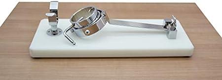 LepantoHouse Soporte Jamonero Future Plegable Giratorio Base de Fibra Color Blanco Para Jamones y Paletillas