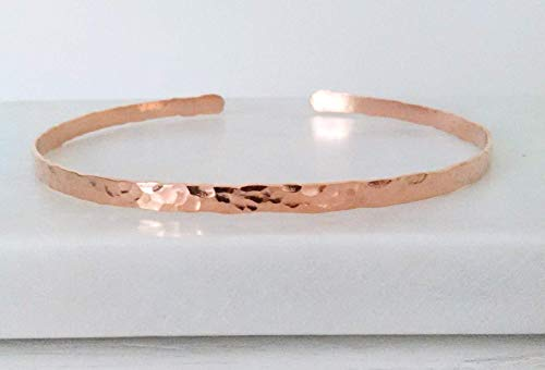 Hammered Copper Gold Metal Upper Armband Cuff Forearm Bangle Bracelet Armlet Modern Wedding Bride Bridesmaid 7th Anniversary Gift Jewelry