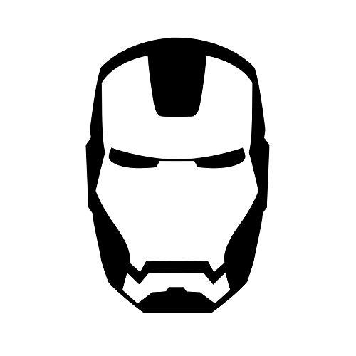 CrazyWEN-Sticker- Ironman face Mask Logo Vinyl Decal, Ironman 2, Movie, Avengers, Window Decal, Wall Decal, Vinyl Sticker -