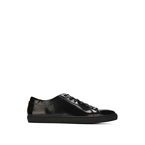 Kenneth Cole New York Mens Kam Box Leather Sneaker - Mens Black