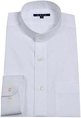 【メンズ・ワイシャツ・カッターシャツ】レギュラーフィット・長袖・綿100%・形態安定・スタンドカラー・日本製