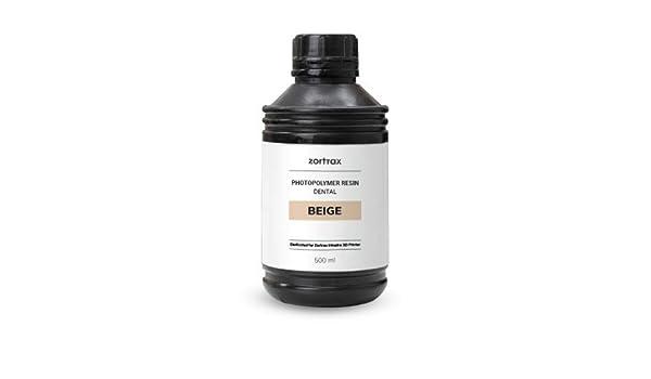Resina Zortrax UV Dental Fotopolimeral Color Beige 500 ml: Amazon ...