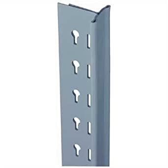 """Lyon DD8538 8000 Series Open Shelving T-Post Upright Assembly, 18"""" Depth x 96"""" Height, Dove Gray"""