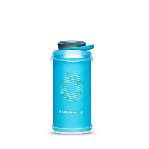 Hydrapak Stash 1L Flexible Water Bottle, Malibu Blue