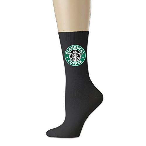 IAYAYO Starbucks Coffee Logo Cotton Crew Socks