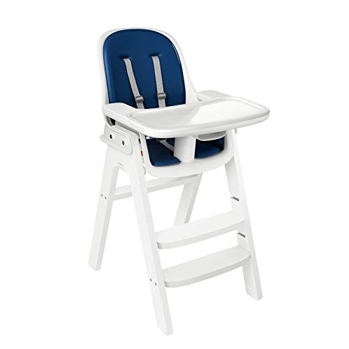 OXO Tot OXO Tot Sprout Chair with Tray Cover, Navy and White