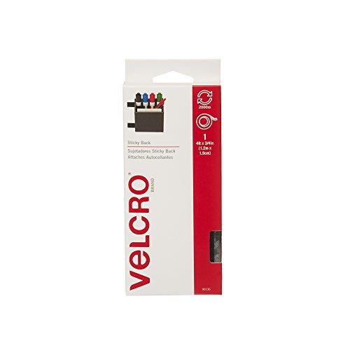 """VELCRO Brand - Sticky Back - 4' x 3/4"""" Tape - Black"""