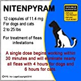 12 doses Nitenpyram 11.4 mg - for Cats and Small Dogs 2 to 25 lbs
